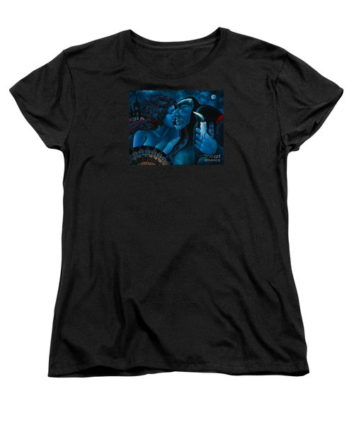 Women's T-Shirt (Standard Cut) featuring the painting Beauty And The Beast by Igor Postash