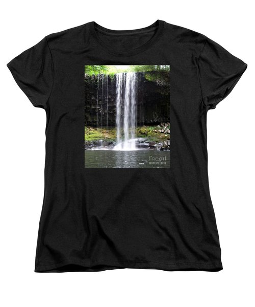 Women's T-Shirt (Standard Cut) featuring the photograph Beaver Falls by Chalet Roome-Rigdon