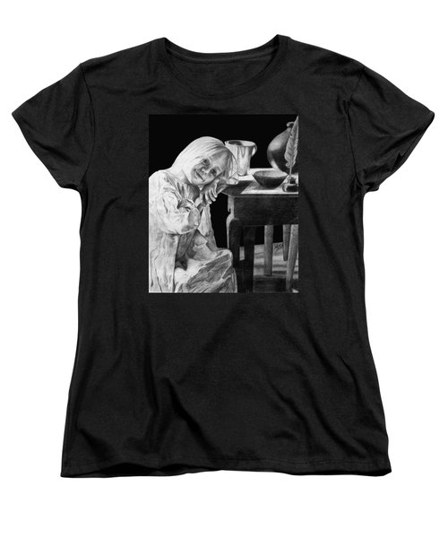 Women's T-Shirt (Standard Cut) featuring the drawing Bedtime by Sophia Schmierer