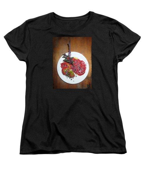 Beefsteak Women's T-Shirt (Standard Cut) by Robert Nickologianis