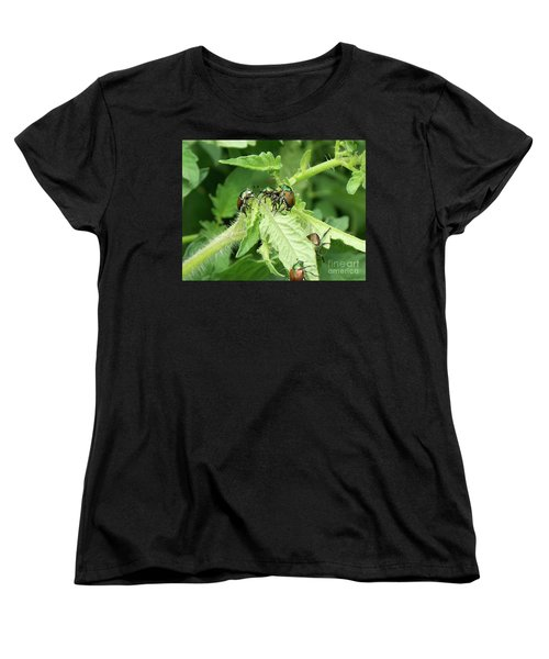 Women's T-Shirt (Standard Cut) featuring the photograph Beetle Posse by Thomas Woolworth
