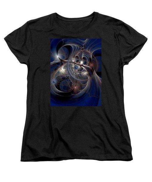 Women's T-Shirt (Standard Cut) featuring the digital art Beguiled At Twilight by Casey Kotas