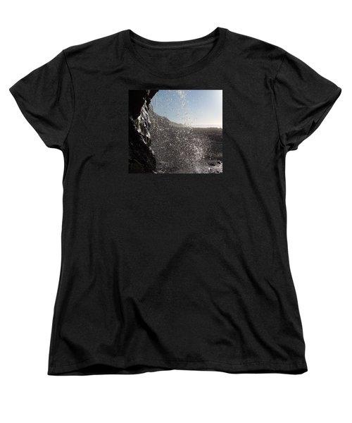 Behind The Waterfall Women's T-Shirt (Standard Cut) by Richard Brookes