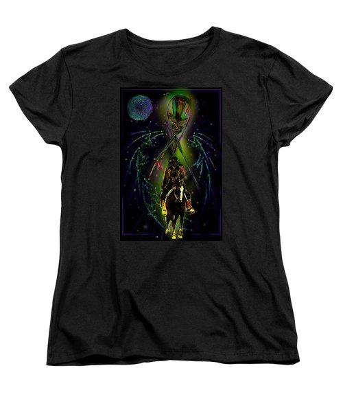 Women's T-Shirt (Standard Cut) featuring the digital art Behold The Pale Rider  by Hartmut Jager