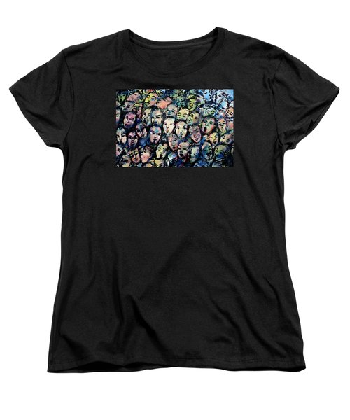 Berlin Wall Graffiti  Women's T-Shirt (Standard Cut) by Anthony Dezenzio