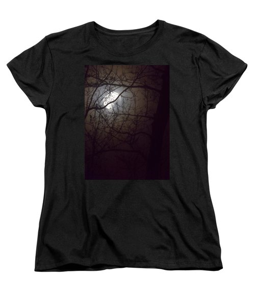 Women's T-Shirt (Standard Cut) featuring the photograph Beware The Rougarou Moon by John Glass