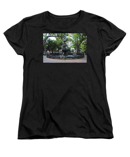 Bienville Fountain Mobile Alabama Women's T-Shirt (Standard Cut) by Michael Thomas