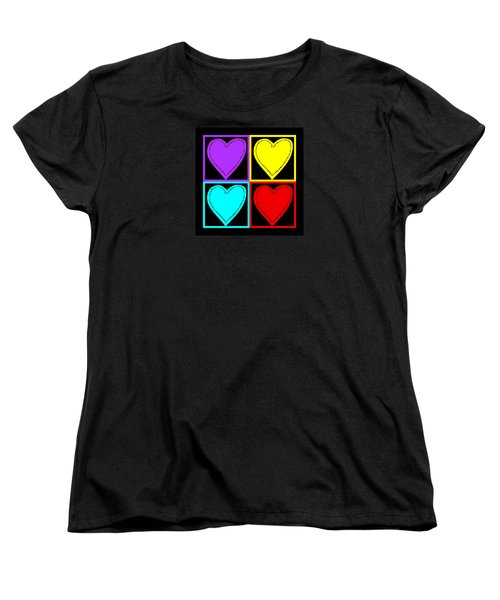 Women's T-Shirt (Standard Cut) featuring the photograph Big Hearts I by Marianne Campolongo