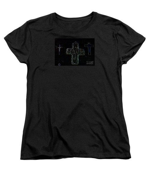 Women's T-Shirt (Standard Cut) featuring the photograph Big Jesus by Tina M Wenger