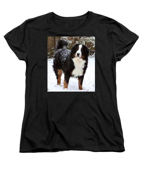 Snow Happy Women's T-Shirt (Standard Cut) by Patti Whitten