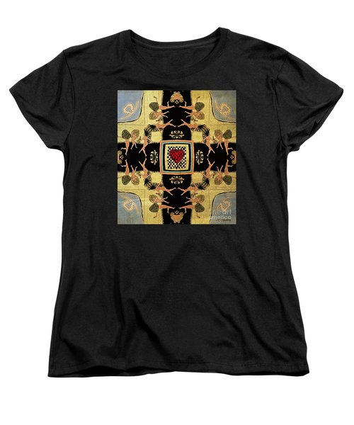 Women's T-Shirt (Standard Cut) featuring the drawing Big Sur Party X 4 by Joseph J Stevens