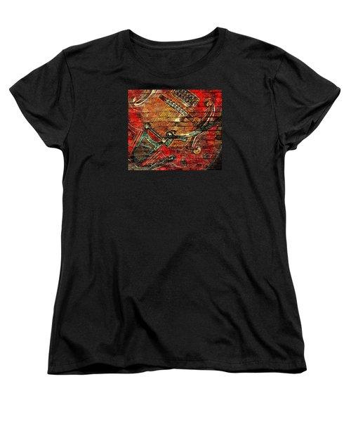 Bigsby Faux Mural Women's T-Shirt (Standard Cut)