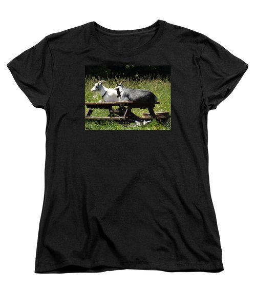 Billy Goats Picnic Women's T-Shirt (Standard Cut) by Brenda Brown