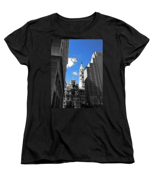 Billy Penn Blue Women's T-Shirt (Standard Cut) by Photographic Arts And Design Studio