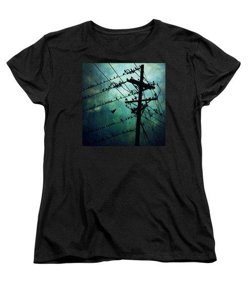 Bird City Women's T-Shirt (Standard Cut) by Trish Mistric