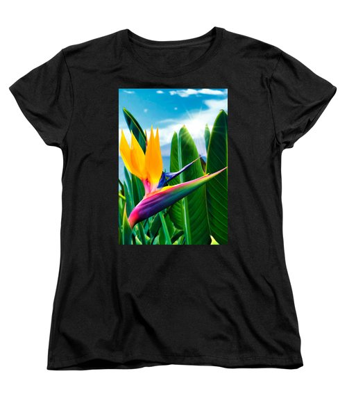 Bird Of Paradise 5 Women's T-Shirt (Standard Cut) by Dawn Eshelman