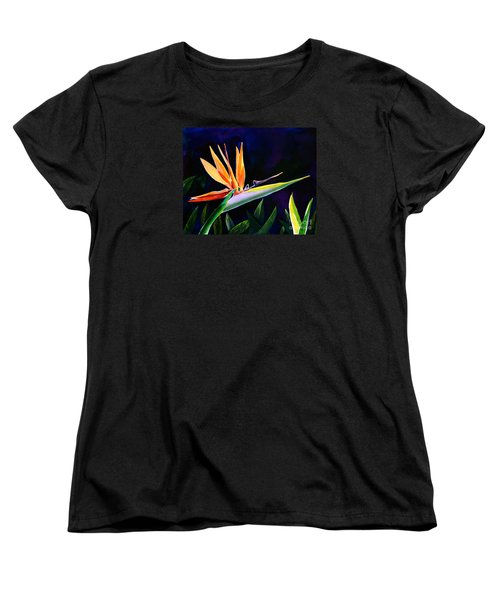 Bird Of Paradise Women's T-Shirt (Standard Cut) by AnnaJo Vahle
