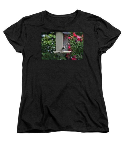 Women's T-Shirt (Standard Cut) featuring the photograph Bird Time To Fly by Thomas Woolworth