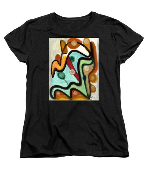 Women's T-Shirt (Standard Cut) featuring the painting Birds In Flight by Stephen Lucas