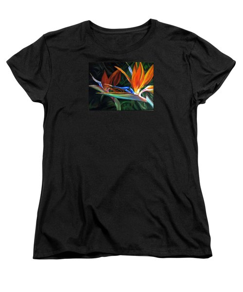Women's T-Shirt (Standard Cut) featuring the painting Birds Of Paradise by LaVonne Hand
