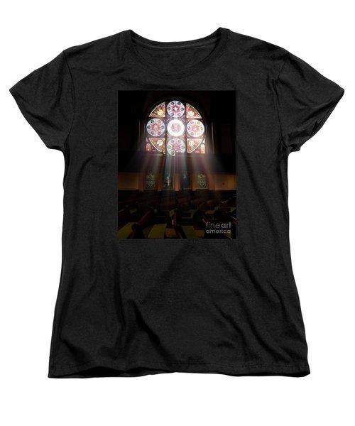 Birmingham Stained Glass Women's T-Shirt (Standard Cut) by Liz Masoner