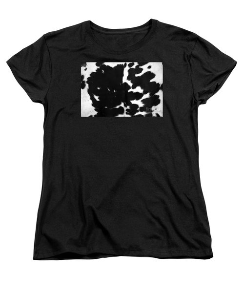 Women's T-Shirt (Standard Cut) featuring the photograph Black Cowhide by Gunter Nezhoda
