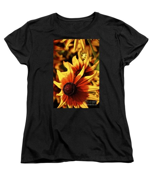 Women's T-Shirt (Standard Cut) featuring the photograph Black Eyed Susan by Linda Bianic