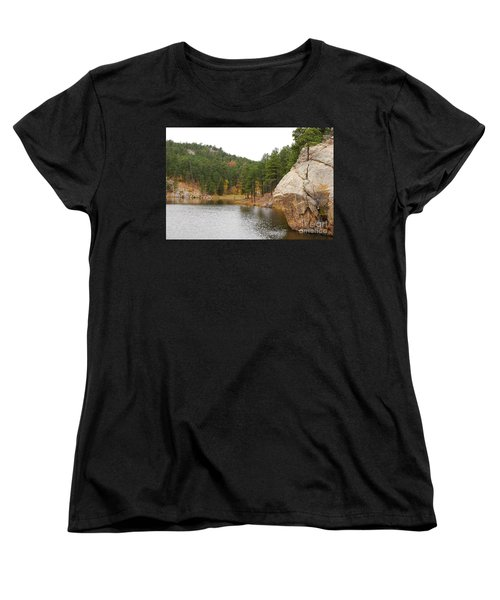 Women's T-Shirt (Standard Cut) featuring the photograph Black Hills Lake by Mary Carol Story