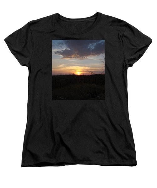 Women's T-Shirt (Standard Cut) featuring the photograph Black Hills Sunset IIi by Cathy Anderson