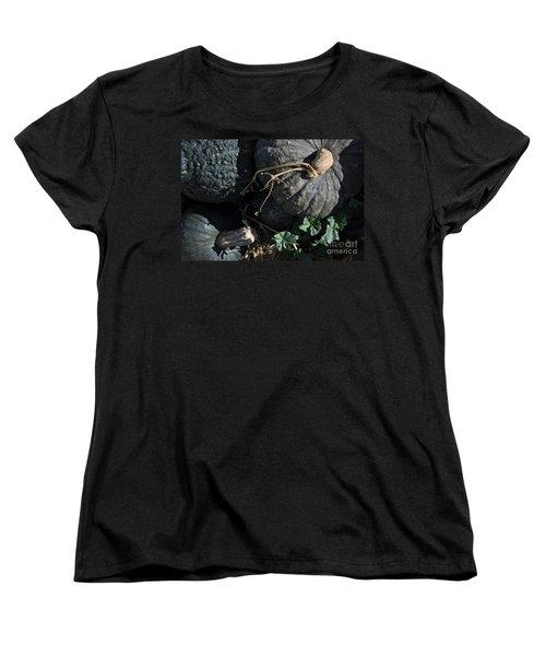 Women's T-Shirt (Standard Cut) featuring the photograph Black Pumpkins by Minnie Lippiatt