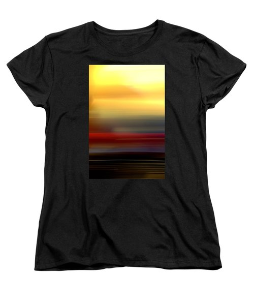 Black Red Yellow Women's T-Shirt (Standard Cut) by Terence Morrissey