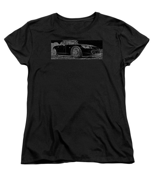 Black S2000 Women's T-Shirt (Standard Cut) by Eric Liller