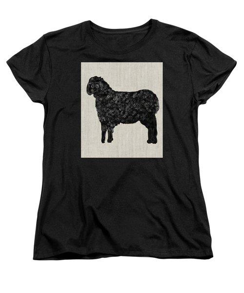 Black Sheep Women's T-Shirt (Standard Cut) by Enzie Shahmiri
