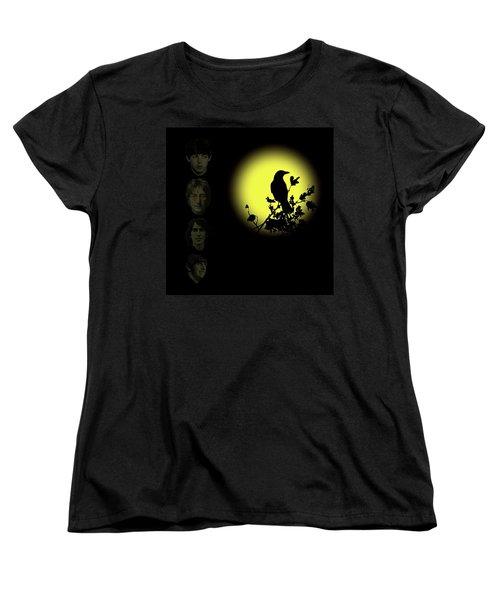 Blackbird Singing In The Dead Of Night Women's T-Shirt (Standard Cut) by David Dehner