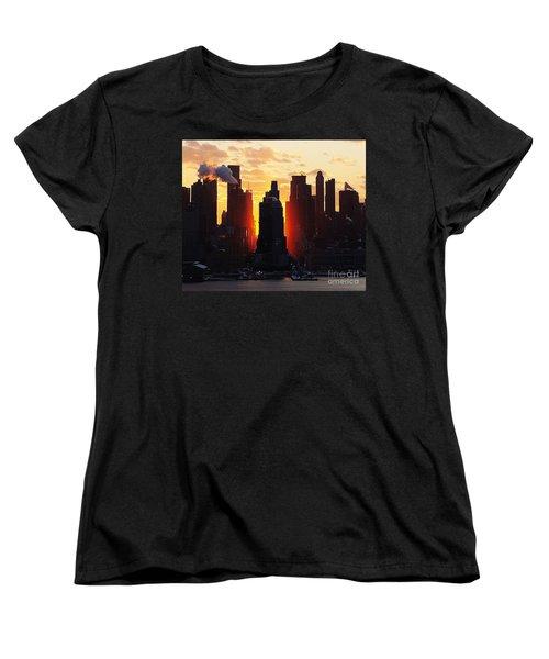 Blazing Morning Sun Women's T-Shirt (Standard Cut) by Lilliana Mendez