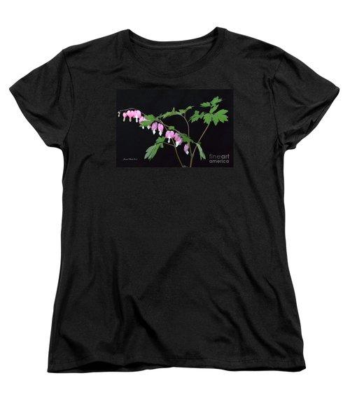Women's T-Shirt (Standard Cut) featuring the photograph Bleeding Hearts 2 by Jeannie Rhode