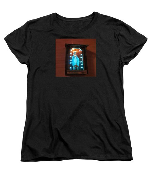 Blessed Mary - New Orleans La - Www.rocknbowl.com Women's T-Shirt (Standard Cut)