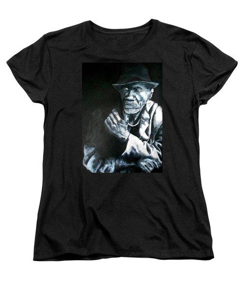 Blind Man Of Hindi Women's T-Shirt (Standard Cut) by Maris Sherwood