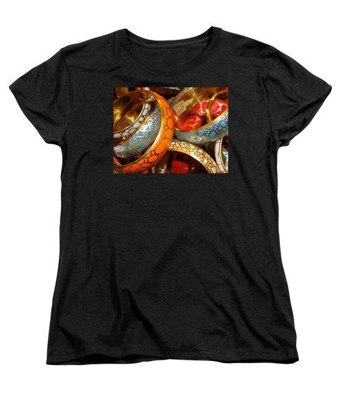 Women's T-Shirt (Standard Cut) featuring the photograph Bling by Ira Shander