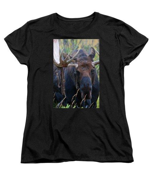 Women's T-Shirt (Standard Cut) featuring the photograph Blood In His Eye by Jim Garrison