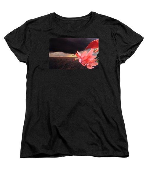 Blooms Against Tornado Women's T-Shirt (Standard Cut)