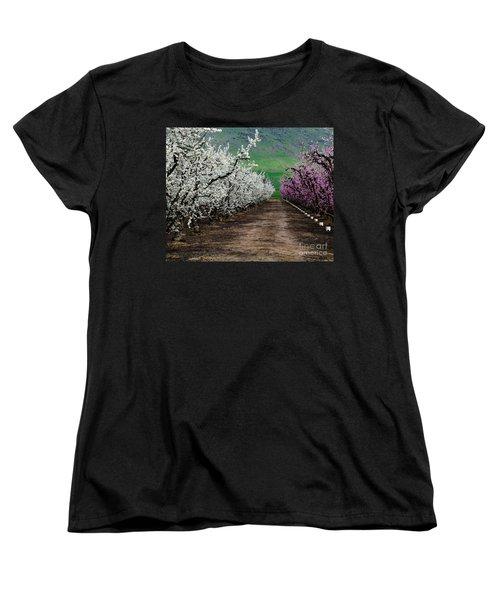 Blossom Standoff Women's T-Shirt (Standard Cut) by Terry Garvin