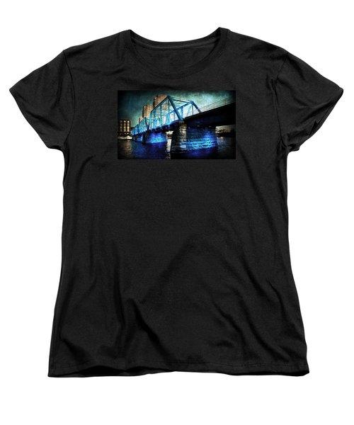 Blue Bridge Women's T-Shirt (Standard Cut) by Evie Carrier