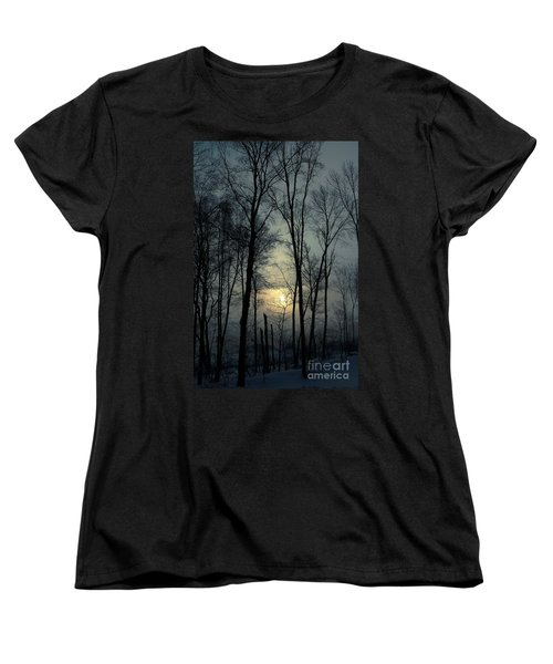 Blue Daybreak Women's T-Shirt (Standard Cut) by Karol Livote