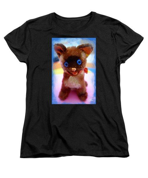 Blue Eyed Kitty Women's T-Shirt (Standard Cut)
