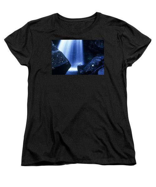Women's T-Shirt (Standard Cut) featuring the photograph Blue Falls by Rodney Lee Williams