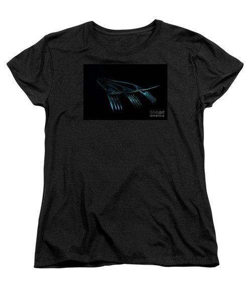 Women's T-Shirt (Standard Cut) featuring the photograph Blue Forks by Randi Grace Nilsberg