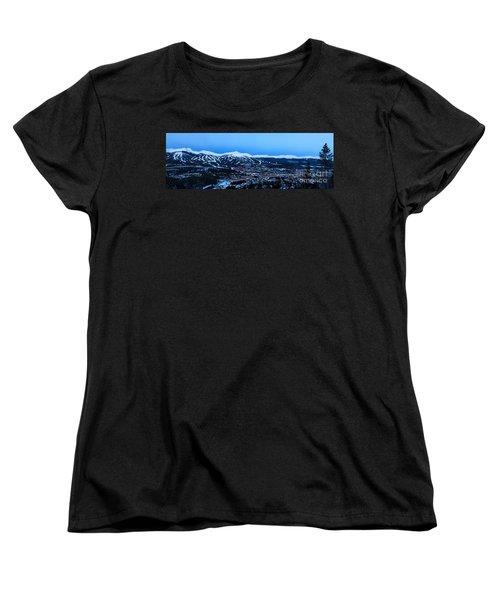 Blue Hour In Breckenridge Women's T-Shirt (Standard Cut) by Ronda Kimbrow