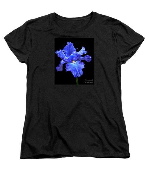 Blue Iris Women's T-Shirt (Standard Cut) by Robert Bales