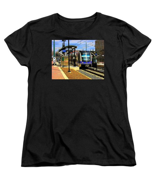 Women's T-Shirt (Standard Cut) featuring the photograph Blue Line by Rodney Lee Williams